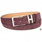 Preview: Red suede belt by Handmacher