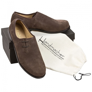 Handmacher model 45 suede dark brown