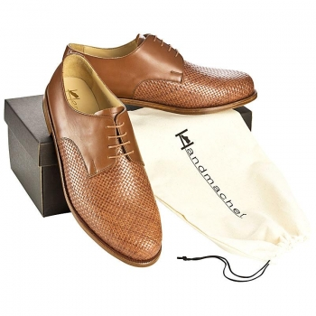 Handmacher model 22 woven leather cognac