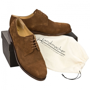 Handmacher model 10 suede chestnut