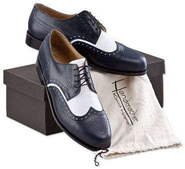 Handmacher model 14 calfskin two tone