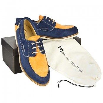 Handmacher model 18 suede two tone