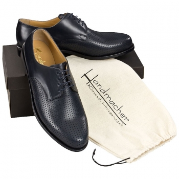 Handmacher model 21 calfskin blue