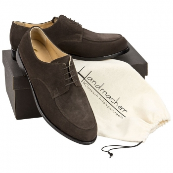 Handmacher model 24 suede dark brown