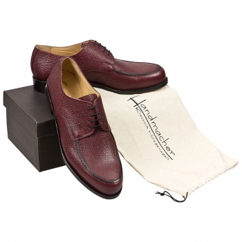 Handmacher model 25 scotchgrain leather red