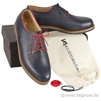 Handmacher model 27 scotchgrain blue