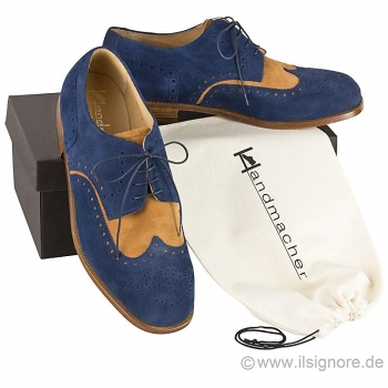 Handmacher model 32 suede two tone