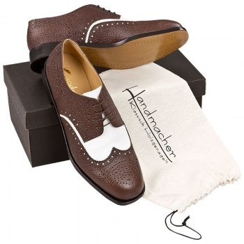 Handmacher model 32 brown & white