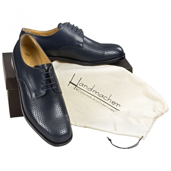 Handmacher model 33 calfskin navy blue