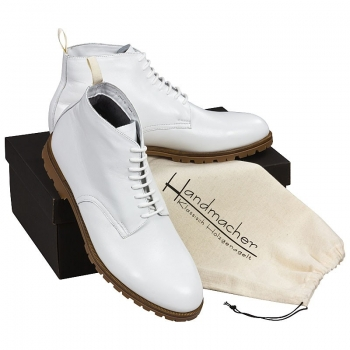 Handmacher model 58 calfskin white