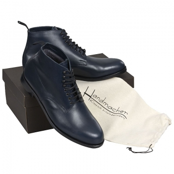 Handmacher model 58 calfskin Navy blue