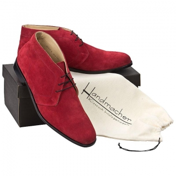 Handmacher model 70 suede red