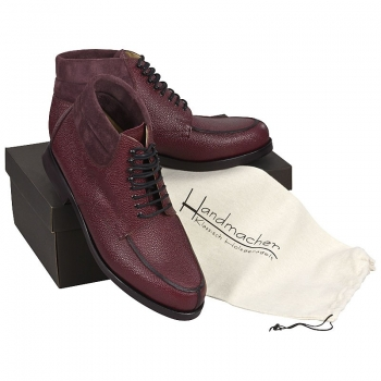 Handmacher model 78 scotch grain leather wine red