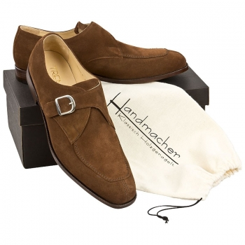 Handmacher model 83 chestnut brown suede