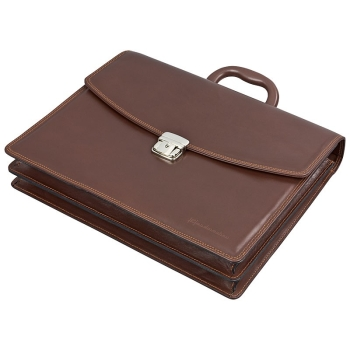 Handmacher bag made of brown calfskin