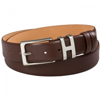 Calfskin belt in brown