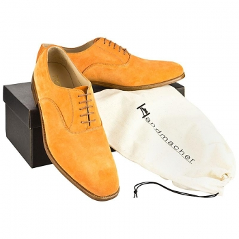Velourleder Schuhe orange