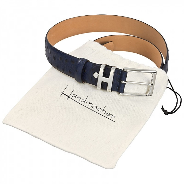 Handmacher ostrich leather belt