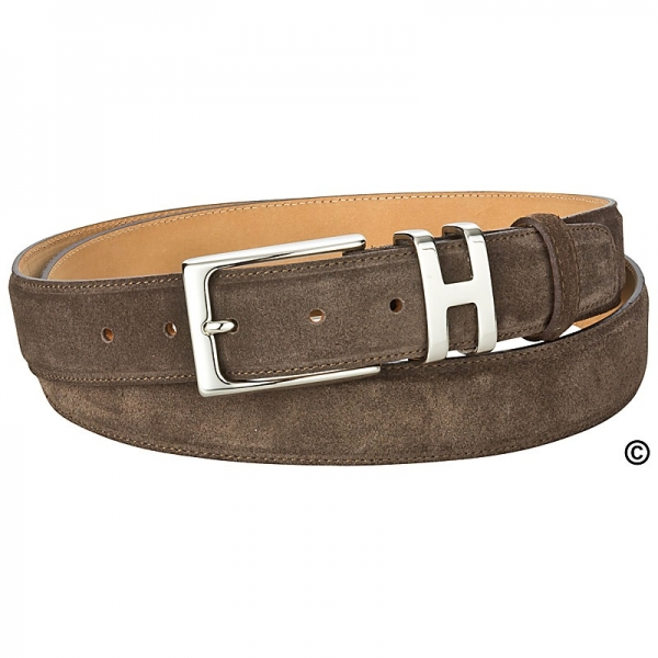 handmacher brown suede belt