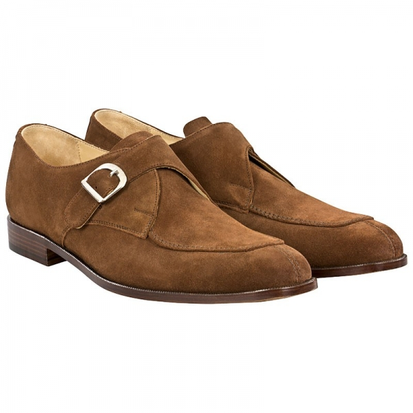Monkstrap aus Velourleder