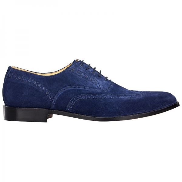 Oxford Full Brogue aus Velourleder