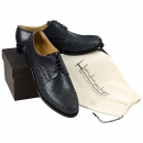 Handwoven leather shoes for men